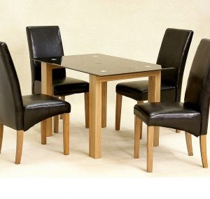 Adina Dining Set (Clear Glass)