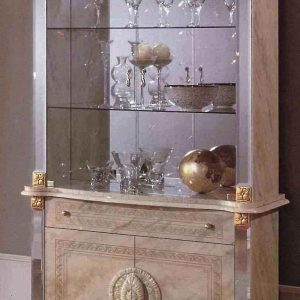 Betty 2 Door Vetrine (Beige/Onyx) Display Unit