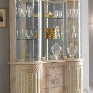 Betty 3 Door Vitrine (Beige/Onyx) Display Unit