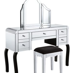 Mirrored Dressing Table (MF3019 Set)