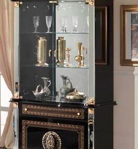 Betty 2 Door Unit Vitrine (Black/Gold)