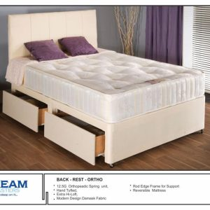 Backrest Orthopedic Bed