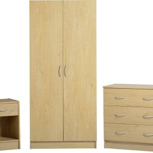 Bellingham Bedroom Set in Oak Effect Veneer