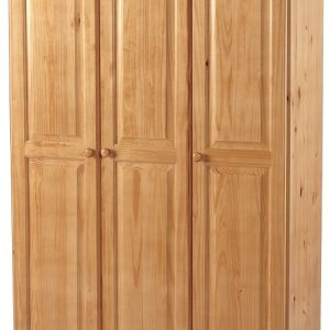 Sol 3 Door Wardrobe in Antique Pine