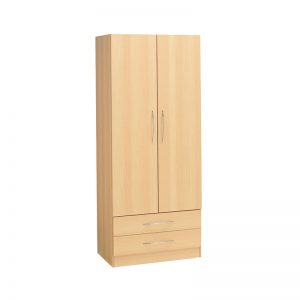 Budget 2 Door Wardrobe 2 Drawers
