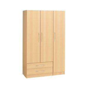 Budget 3 Door Wardrobe 2 Drawers