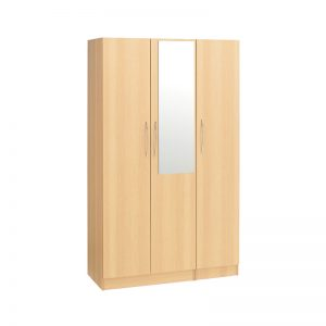 Budget 3 Door Wardrobe Mirror