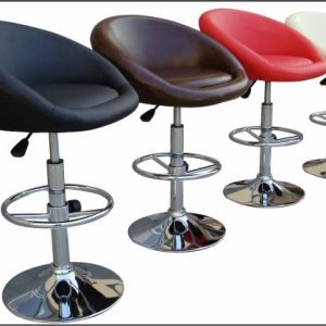 Bermuda Gaslift Barstool-Faux Leather