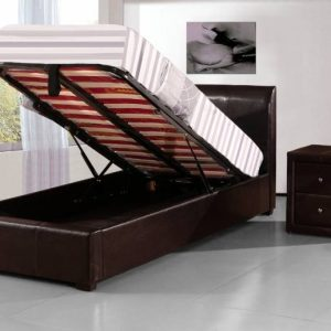 Boston Faux Leather Storage Bed