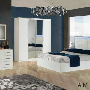 Ambra LED Italian Bedroom Set