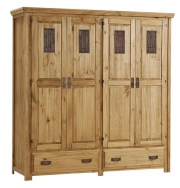Salto 4 Door wardrobe with 2 Drawer