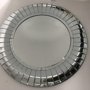 Curved Mirrored Wall Mirror