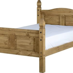 Corona 4' Bed High Foot End in Distressed Waxed Pine