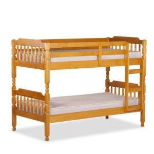 Colonial Spindle Bunk Bed in Honey