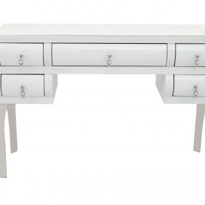 White Mirror Curved Dressing Table