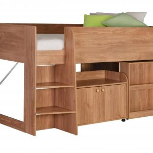 Astro Study Bunk in Oak Effect Veneer