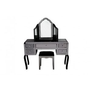 Mirrored Smokey Dressing Table Set (MF2019-SM)