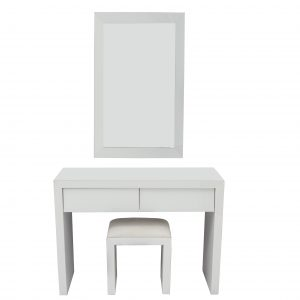 White Mirror Slanted Dresser Set (MF4001)