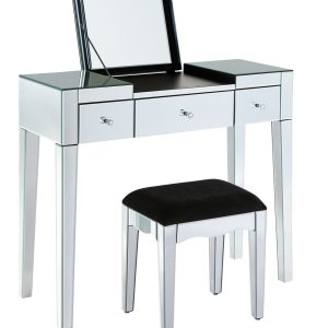 Clear Mirrored Dressing Table