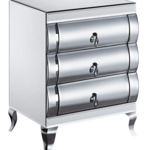 Mirrored 3 Drawer BedSide (JS211-2)