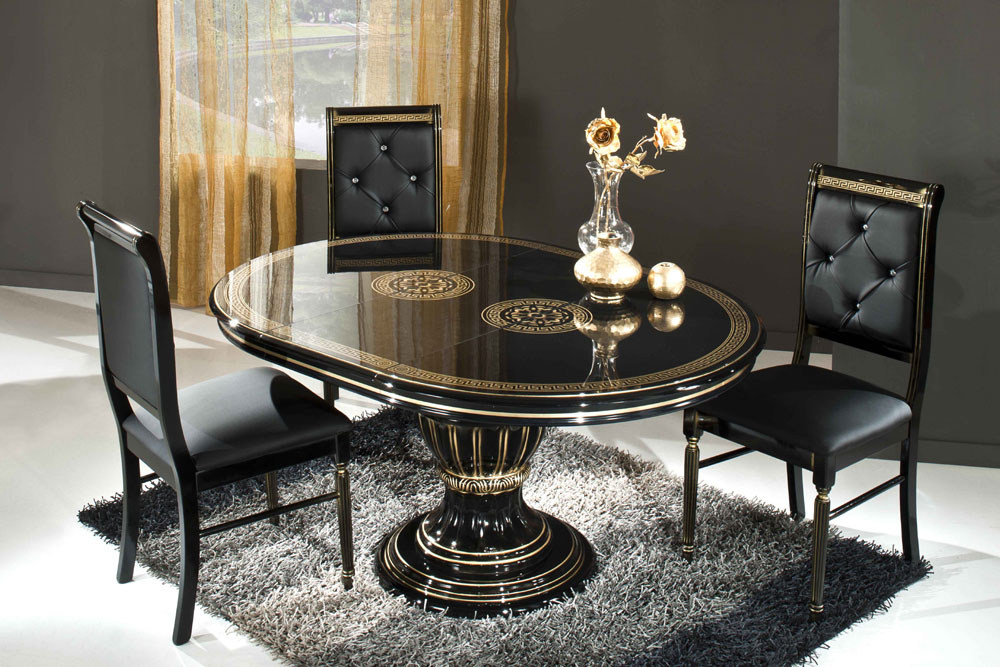 Roa Versace Style Dining Table Set, Versace Dining Room Set