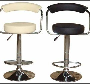 Venice Gaslift Barstool-Faux Leather