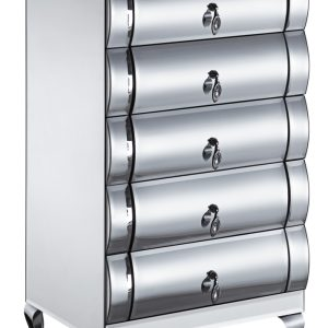 Mirrored 5 Drawer Tall Boy (JS211-1)