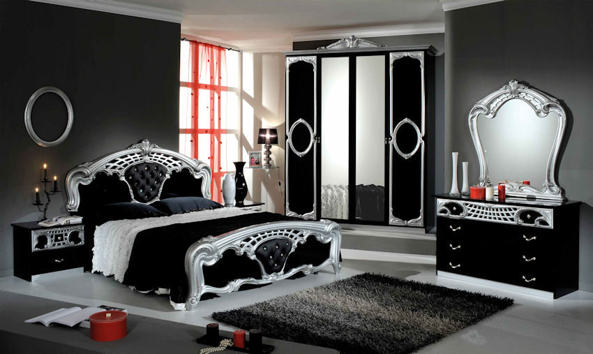 Eva Blacksilver Italian Bedroom Set Cash And Carry Beds