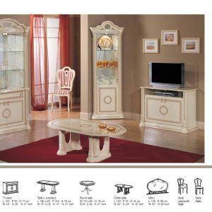 Irene 2 Door vertine Beige