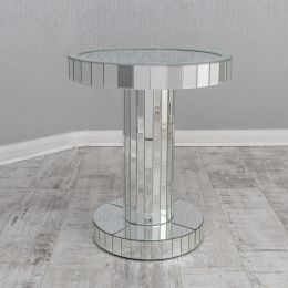 Crushed Glass Round Coffee Table