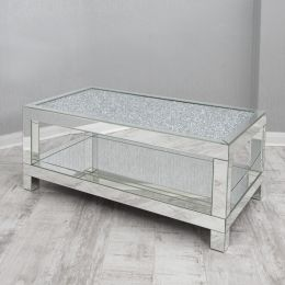 New Crushed Glass Coffee Table