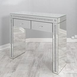 Crushed Glass Console Table