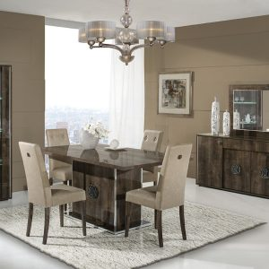 New Athen Italian Extending Dining Table Rover Monte Set