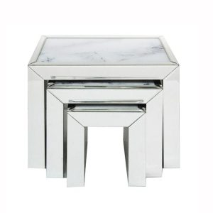 Mirror Marble Nest Of Tables