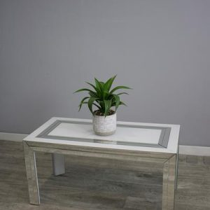 Bianco Mirror /Top White Gloss Coffee Table