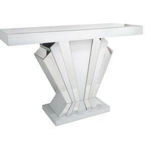 Bianco Mirror fan console table