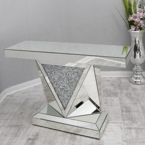 Crushed Mirror Console Table (GD-1534)