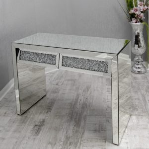 Crushed Glass 2 Drawer Console Table
